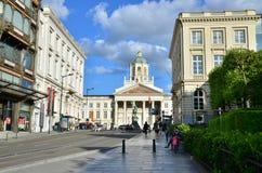 Bruxelas, Bélgica - 13 de maio de 2015: Igreja de Saint Jacques-sur-Coudenberg Fotos de Stock Royalty Free