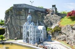 BRUXELAS, BÉLGICA - 13 DE MAIO DE 2016: Miniaturas no parque Mini-Europa - reproduções dos monumentos na União Europeia em uma es foto de stock royalty free