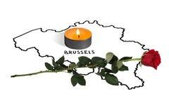 bruxelas 22 de março ato terrorista Imagem de Stock Royalty Free