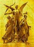 Bruxelas - estátua do arco triunfal Imagens de Stock