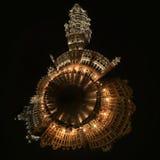 Bruxelas Grand Place na noite Imagens de Stock