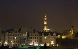 Bruxelas na noite Imagens de Stock Royalty Free