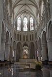 Bruxelas - presbitério da catedral gótico de St Michael Imagens de Stock Royalty Free