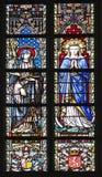 Bruxelas - Virgem Maria e Saint - Notre Dame du Sablon Fotografia de Stock Royalty Free