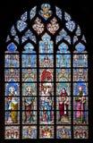 Bruxelas - windowpane de Notre Dame du Sablon Imagem de Stock