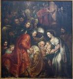 Bruxelles - adorazione di Re Magi Fotografia Stock
