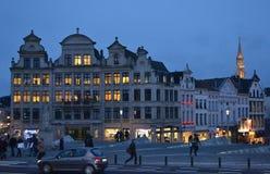 Bruxelles alla notte Fotografia Stock Libera da Diritti