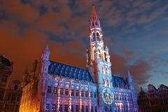 Bruxelles alla notte Immagini Stock Libere da Diritti