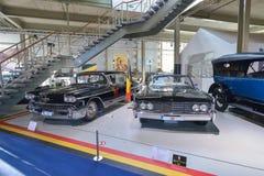 BRUXELLES, BELGIO - 5 dicembre 2016 - museo di Autoworld, vecchia raccolta delle automobili che mostra la storia delle automobili Immagine Stock Libera da Diritti
