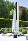 BRUXELLES, BELGIO - 13 MAGGIO 2016: Miniature al parco Mini-Europa - riproduzioni dei monumenti nell'Unione Europea ad una scala fotografia stock