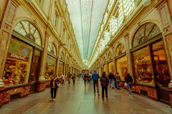 BRUXELLES, BELGIQUE - 11 AOÛT 2015 : Galerie image stock
