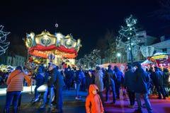 BRUXELLES, BELGIQUE - 5 décembre 2016 - marché de Noël de la place de Catherine de saint Image libre de droits