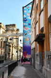 Bruxelles, Belgique - 13 mai 2015 : La peinture sur le mur de maison Images stock