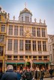 Bruxelles, Belgique, mai, 31, 2018 : Vue extérieure des bâtiments antiques de Bruxelles sur Grand Place célèbre à Bruxelles photo stock