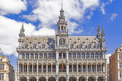 Bruxelles in Belgium. Gothic building Maison du Roi King`s House, or Broodhuis Breadhouse in main square in Bruxelles, Belgium location of the Museum of the City royalty free stock photography