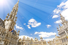 Bruxelles in Belgium. Grand Place Grote Markt main square of Bruxelles, Belgium Stock Photography