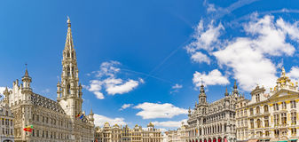 Bruxelles in Belgium. Panorama of main square Grande Place in Bruxelles, Belgium royalty free stock photography