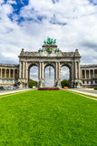 Bruxelles, Belgium. Parc du Cinquantenaire with the Arch built for the Golden Jubilee celebrations of Belgian independence in 1880. Brussels Stock Photography