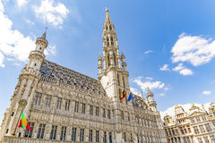 Bruxelles in Belgium. Town hall in main square in Bruxelles, Belgium stock photography