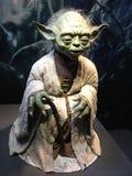 Bruxelles / Belgium - 08 21 2018 : yoda in authentic costume star wars identities exhibition