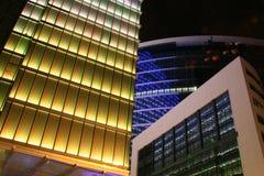 Bruxelles, costruzioni entro la notte Fotografia Stock Libera da Diritti