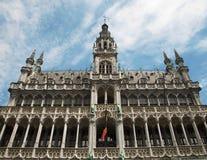Bruxelles - la facciata di grande palazzo. immagine stock libera da diritti