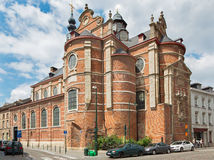 Bruxelles - le ricchezze aus. Claires di Notre Dame della chiesa Fotografia Stock Libera da Diritti