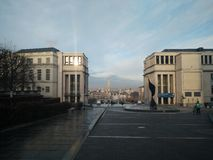 Bruxelles - mont des arts. One of the art places of brussels Stock Image