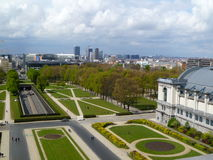 bruxelles panorama- sikt Arkivbild