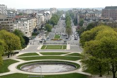 Bruxelles: Parc du Cinquantenaire Fotografia Stock Libera da Diritti