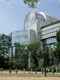 Bruxelles - parlament europejski Zdjęcia Royalty Free
