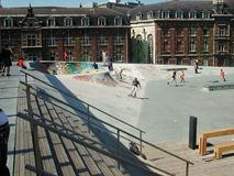 Bruxelles - Skatepark de la Chapelle Royalty Free Stock Image