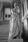Bruxelles - statua del re di Lycurgos di Spara Fotografia Stock