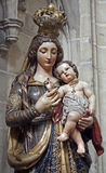 Bruxelles - statua del Virgin Mary Fotografia Stock