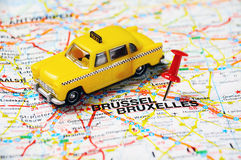 Bruxelles taxi Royalty Free Stock Images