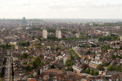 Bruxelles in tilt-shift Stock Photography