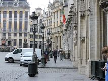 In Bruxelles. View from Grand Place Stock Photo