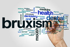 Bruxism word cloud concept on grey background Royalty Free Stock Photo