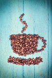 Brwon roasted coffee beans Royalty Free Stock Photography