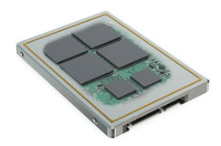 Bryła - stanu SSD obwodu prowadnikowa deska ilustracja wektor