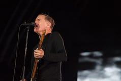 Bryan Adams in tensione al festival di Westport fotografie stock libere da diritti