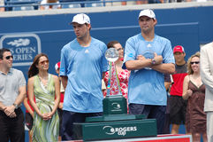 Bryan brothers at Rogers Cup 2008 (27) Stock Photography