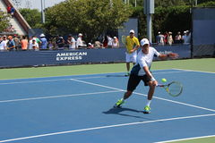 Bryan brothers. Tennis champions Bryan brothers during a practice session, at the 2014 US Open Royalty Free Stock Images
