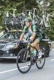 Bryan Coquard op Col. du Tourmalet - Ronde van Frankrijk 2014 stock afbeelding