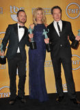 Bryan Cranston & Anna Gunn & Aaron Paul Royaltyfri Fotografi
