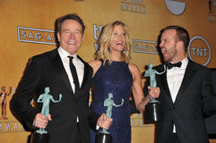 Bryan Cranston & Anna Gunn & Aaron Paul Royalty Free Stock Photography