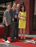 Bryan Cranston & Frankie Muniz & Linwood Boomer & Jane Kaczmarek. LOS ANGELES, CA - JULY 16, 2013: Bryan Cranston with Malcolm in the Middle co-stars Stock Images