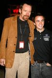 Bryan Cranston,Frankie Muniz. Bryan Cranston and Frankie Muniz  at the press conference unveiling Frankie Muniz's new Champ Car Atlantic race team. Hard Rock Royalty Free Stock Image