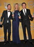 Bryan Cranston u. Anna Gunn u. Aaron Paul Lizenzfreie Stockfotografie