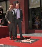 Bryan Cranston y Aaron Paul Foto de archivo